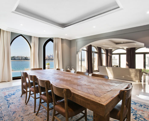 dinning room in Dubai real estate