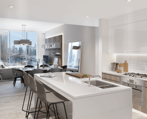 white kitchen in Dubai | Scandinavian Sun