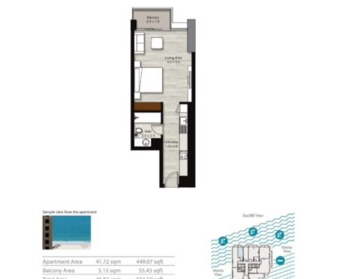 studio floorplan | Scandinavian Sun